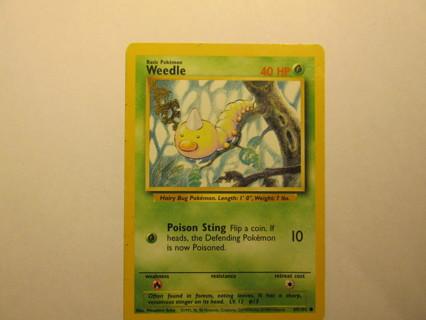 Pokemon Card - Weedle 69/102