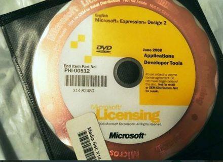 1 Microsoft Expression Design 2 Software PC Windows FREE SHIPPING