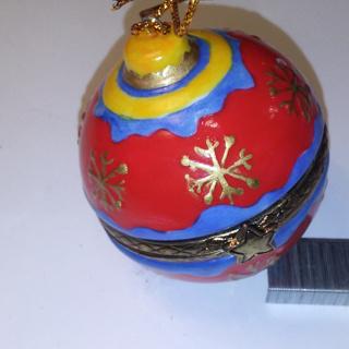 Limoge style Enamel Trinket Box Ornament Porcelain