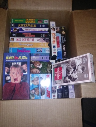 Lot of 46 VHS Movies - Disney, Christmas, Much More - Wide Assortment