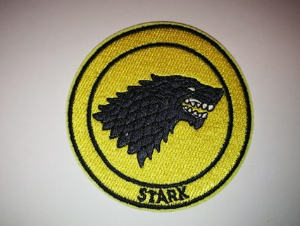 Game of Thrones Stark House  Embroidered Cloth Iron On Patch