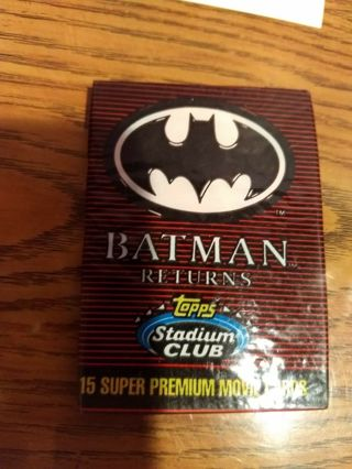 ✹ BATMAN RETURNS Collectible 15 TOPPS Trading Cards-NEW -Free Ship