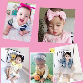 3Pcs Cute Rabbit Ear Baby Headband Neonata Bow Flower Elastic Hearband Baby Girls Headbands Childr