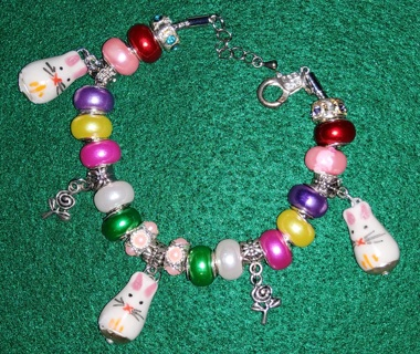 Bunny Day, Euro Bracelet, Creations by Cris