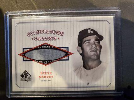 2001 Upperdeck SP Authentic Steve Garvey Game Used Jersey Los Angeles Dodgers
