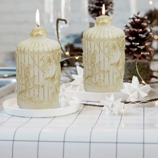 Christmas Candles Set 2pcs Table Decorations Holiday Decor Gifts
