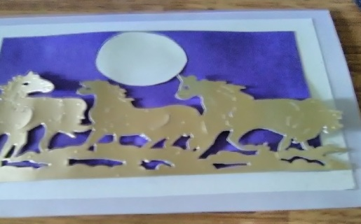 """""""Running Free -Mustang`s"""" Design Blank Card with Envelope"""