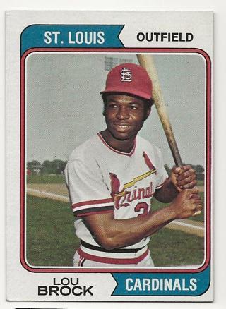 1974 Topps Lou Brock Cardinals