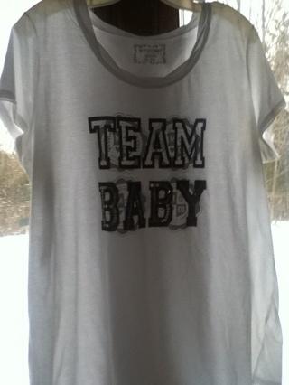 Team baby maternity top sizexl