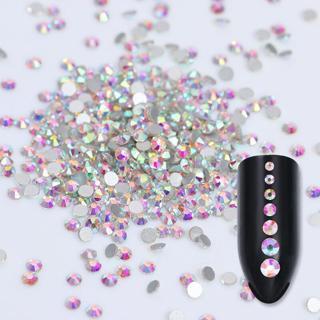 1440pcs 1 pack  Nail Art Rhinestones Glitter Diamond Gems 3D Tips DIY Decoration