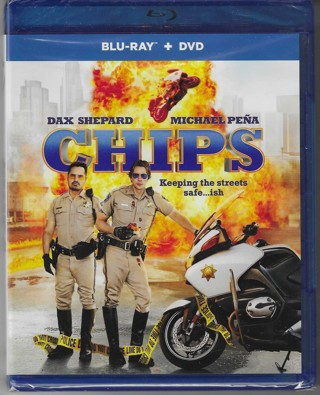 Brand New Never Been Opened Chips Blue Ray + DVD