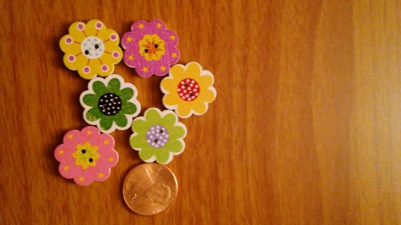 ~~6 BN FLOWER SHAPED BUTTONS WITH MAGNETS~~