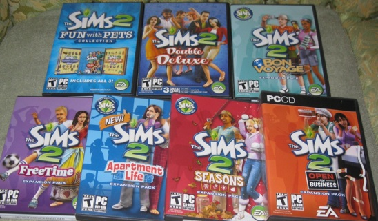 Free: SIMS 2 Double Deluxe + 6 Expansion Packs - PC Games