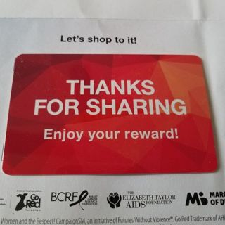 "Macy's ""Thanks For Sharing"" Gift Card $24.20"