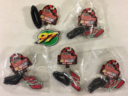 Racing Champions NASCAR Terry Labonte 5 / Chad Little 97 Key Rings Keychains Lot