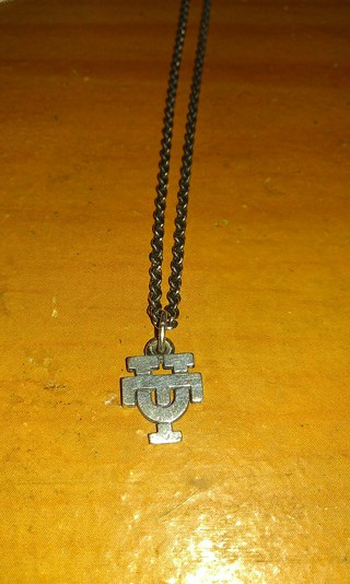 .925 stearling silver UT necklace