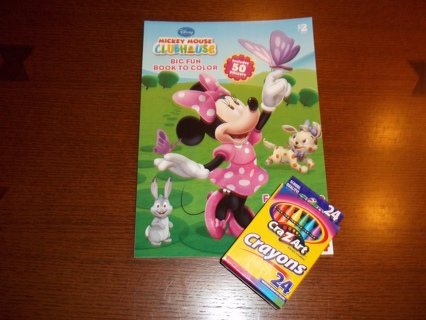 Free: Disney Junior Mickey Mouse Clubhouse Coloring Book and Crayons ...