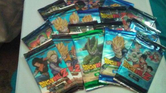 18 DragonBall Z Trading Card packs