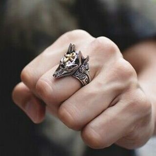 Anubis God Ancient Egyptian Wolf Ring