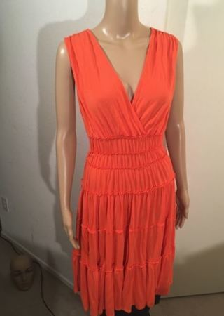 Solid Orange Soft Dress by Sangria FREE SHIPPING