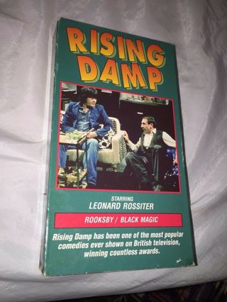 vintage RISING DAMP Leonard Rossiter ROOKSBY BLACK MAGIC vhs tape 1a