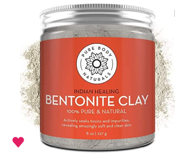 Pure Bentonite Powder for DIY Detox Bath & Facial Mask, Pure Indian Healing Clay