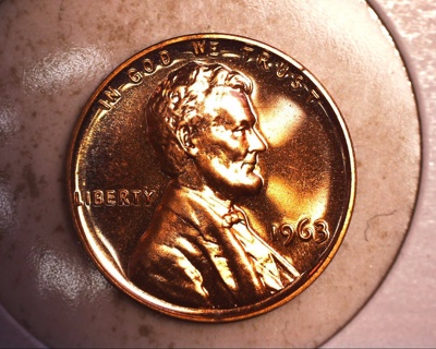 1963 tone proof lincoln cent
