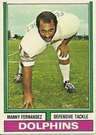 Manny Fernandez - 1974 Topps Football #365 - Miami Dolphins DT - EX+ card