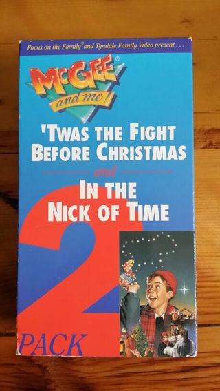 free mcgee and me vhs twas the fight before christmas and in the nick of time 2 pack - The Fight Before Christmas