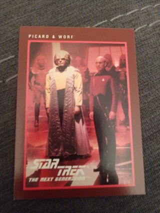 Star trek card - Picard & Worf