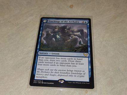 Magic the gathering mtg Teachings of the archaics rare card Strixhaven