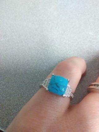 Sz 5 turquoise ring