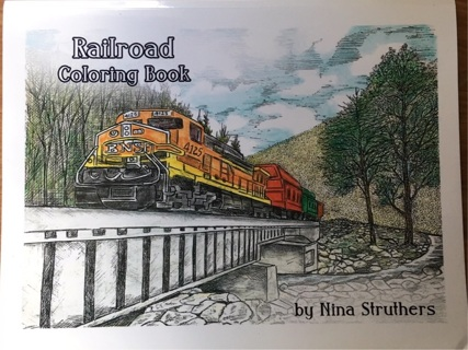 RAILROAD COLORING BOOK BY NINA STRUTHERS