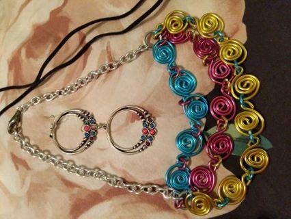 Jewelry lot as shown necklace bracelet earrings