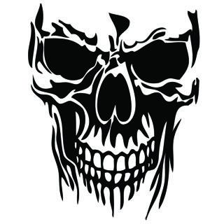 Skull Vinyl Decal Sticker