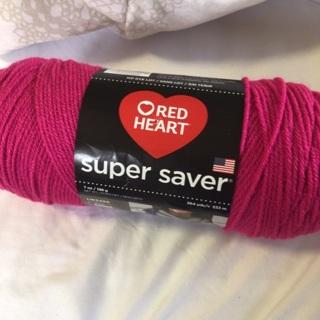 7 Oz  Pink Acrylic Yarn.