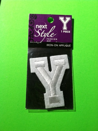 **~ Letter Y iron on patch ~**