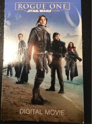 Digital copy of Rogue One (Star Wars)
