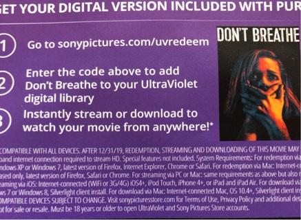 Don't Breathe digital copy