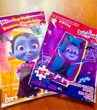 DISNEY Vampirina Lot 1 HALLOWEEN TREATS & GOODS Play Pack Kit & Re-sealable Puzzle