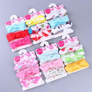 3Pcs Kids Floral Headband Girls Baby Elastic Bowknot Accessories Hairband Set New Arrival Dropship