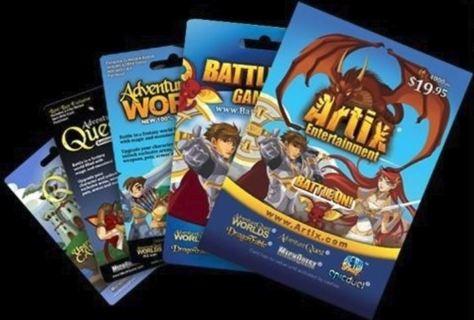 1 NEW Artix BattleOn Games $19.95 eGift Card (Email Delivery)
