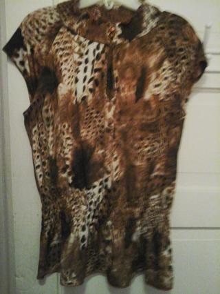 Cool summer. Leopard print blouse