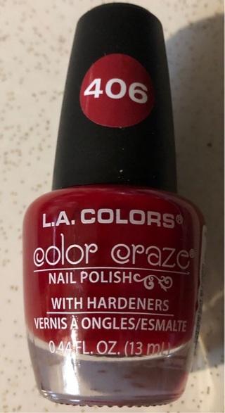 L.A. Colors Color Craze Nail Polish, Hot Blooded
