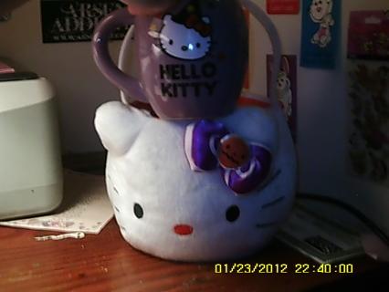 Hello Kitty (Halloween) Treat Basket w/ H.K. Halloween Glass Mug