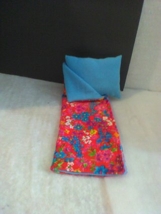 Barbie Sleeping Bag in plush floral fabric