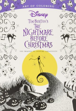 NEW Tim Burton's The Nightmare Before Christmas Coloring Book Adults Kids FREE SHIPPING