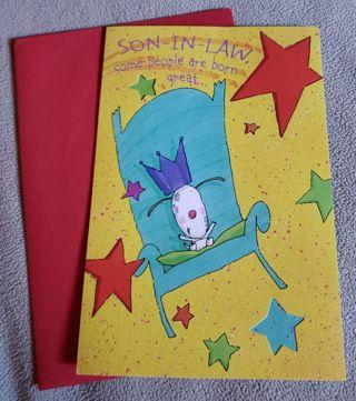 Son in Law Tri-Fold Birthday Greeting Card