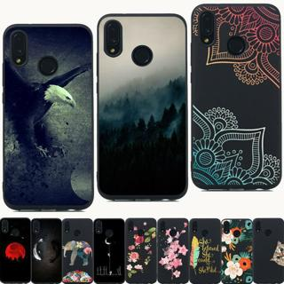 Silicone Painting Painted Slim TPU Cover Case For Huawei P Smart P20 P8 P9 Lite