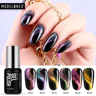 Modelones Chameleon Magnet Gel Polish 3D Cat Eyes UV Nail Polish Soak Off Long Lasting Led Gel Nai